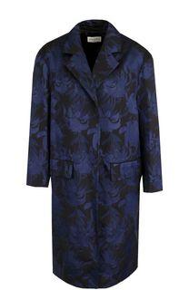 Пальто свободного кроя с цветочным принтом Dries Van Noten