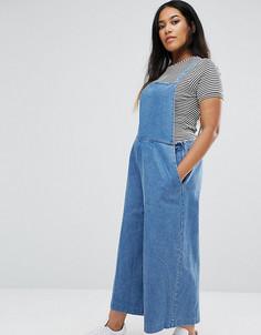 Укороченный джинсовый комбинезон ASOS CURVE - Синий