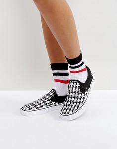 Кроссовки-слипоны с принтом Vans X Karl Lagerfeld - Черный
