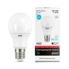 Лампочка Gauss Elementary LED A60 E27 7W 4100K 23227P