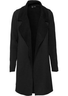 Двухстороннее вязаное пальто (черный) Bonprix