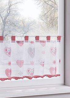 Кухонная штора Иоланда (1 шт.) (красный) Bonprix