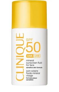 Солнцезащитный минеральный флюид для лица с SPF50 Clinique