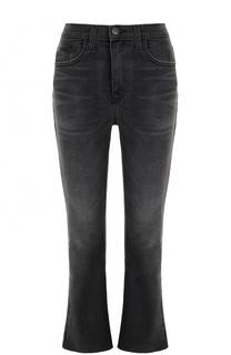Укороченные расклешенные джинсы с потертостями Current/Elliott