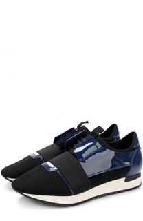 Комбинированные кроссовки Race с эластичной вставкой Balenciaga