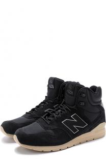 Высокие комбинированные кроссовки 996 на шнуровке New Balance