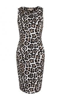 Облегающее платье с леопардовым принтом MICHAEL Michael Kors