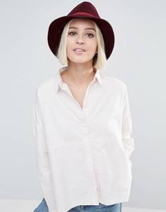 Мягкая фетровая шляпа винного цвета с розовой отделкой Genie by Eugenia Kim Jordan - Красный
