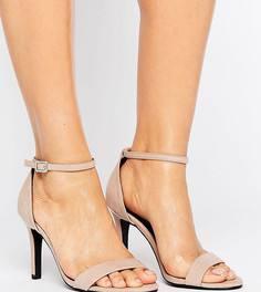 Босоножки для широкой стопы на каблуке под замшу New Look - Бежевый