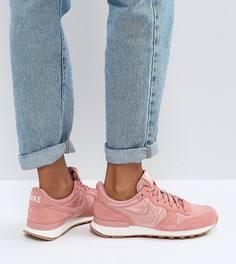 Женские розовые замшевые кроссовки Nike Internationlist - Красный
