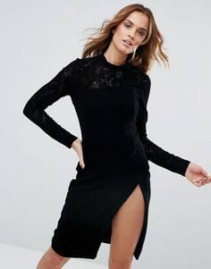 Платье с разрезом до бедра Millie Mackintosh - Черный