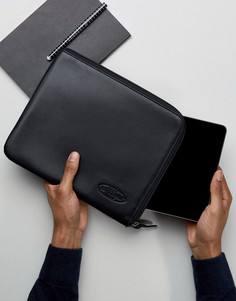 Черный кожаный чехол для Ipad от Eastpak - Красный