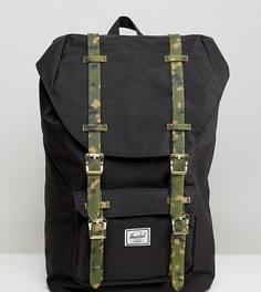 Эксклюзивный рюкзак с камуфляжными ремешками Herschel Supply Co. Little America - Черный