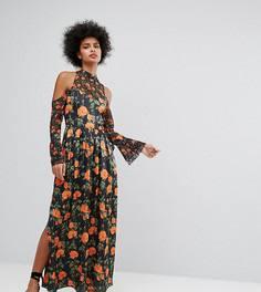 Платье макси с цветочным принтом и рукавами клеш с завязками Horrockses - Мульти