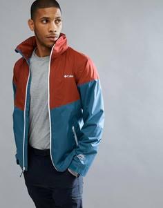 Сине-красная водонепроницаемая куртка с капюшоном Columbia Inner Limits - Синий