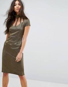 Облегающее платье Outrageous Fortune - Золотой