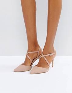 Туфли-лодочки на каблуке с перекрестными ремешками New Look - Розовый