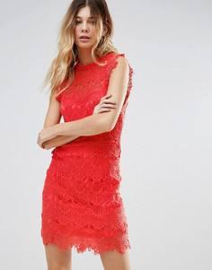 Кружевное облегающее платье Free People - Розовый