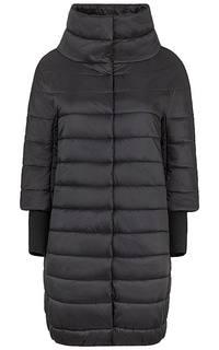 Утепленное пальто со съемными трикотажными рукавами Compagnia Italiana