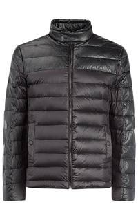 Куртка на натуральном пуху с отделкой экокожей Urban Fashion For Men
