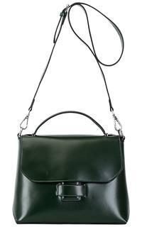 Зеленая кожаная сумка La Reine Blanche