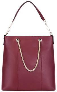 Кожаная сумка с ручками-цепочками La Reine Blanche