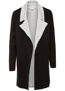 Двухстороннее вязаное пальто (черный/кремовый) Bonprix
