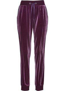 Бархатные трикотажные брюки (цвет бузины) Bonprix