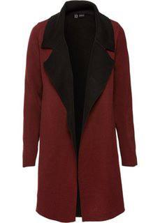 Двухстороннее вязаное пальто (красный каштан/черный) Bonprix