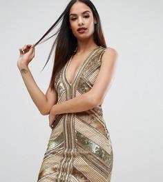 Платье мини с пайетками Starlet - Золотой