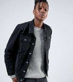Черная джинсовая куртка с потертостями Mennace - Черный