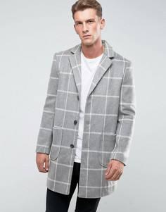 Пальто в клетку Another Influence - Серый