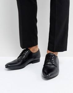 Черные кожаные туфли дерби Dune - Черный