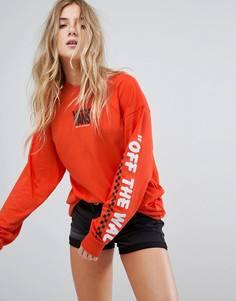 Оранжевый лонгслив Vans - Оранжевый