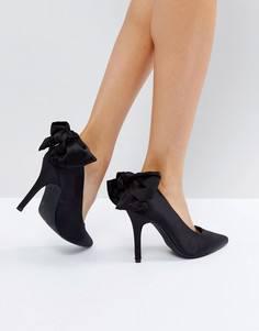 Туфли-лодочки с бантом на заднике New Look - Черный