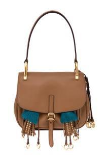 Кожаная сумка Corsaire Prada