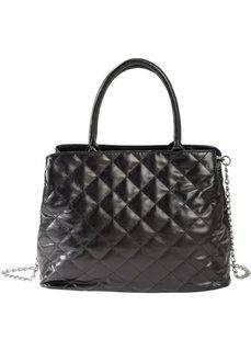 Стеганая сумка (черный) Bonprix