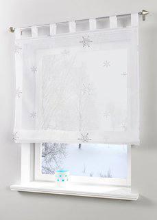 Римская штора Снежинка, петли (белый/серебристый) Bonprix