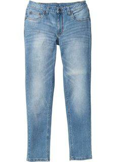 Джинсы-стретч Skinny Fit Straight, длина (в дюймах) 34 (голубой «потертый») Bonprix