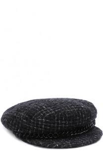 Вязаное кепи с металлической отделкой Eugenia Kim