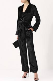 Бархатный костюм в пижамном стиле Equipment