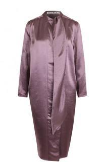 Однотонное платье прямого кроя с оборкой Acne Studios
