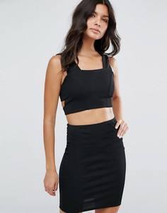 Облегающее платье с вырезом River Island - Черный
