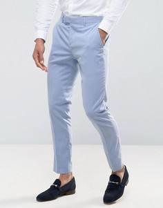 Светло-голубые брюки скинни River Island - Синий