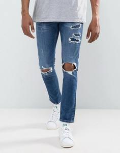 Рваные джинсы скинни River Island - Синий