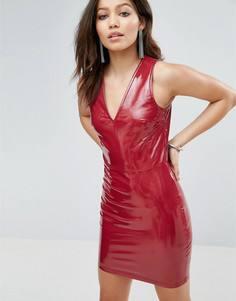 Платье из искусственной кожи Parisian - Красный