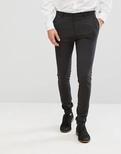Супероблегающие темно-серые спортивные брюки ASOS - Серый