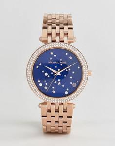 Часы со звездами на циферблате Michael Kors MK3728 Darci - Золотой