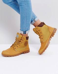 Ботинки на плоской подошве янтарно-золотистого цвета Palladium - Бежевый