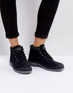 Низкие замшевые черные ботинки Palladium - Черный